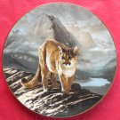 The Cougar WS George Worlds Most Magnificent Cats Porcelain Plate 1991