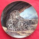 The Snow Leopard WS George The Last of Their Kind Porcelain Plate 1989