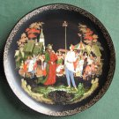 Russian Legends Priest And His Servant Balda Vintage Porcelain Plate