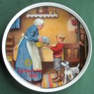 Mothers Day 1986 Norman Rockwell Vintage Edwin M Knowles Wall Plate