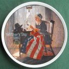 Norman Rockwell Vintage Mothers Day 1980 Edwin M Knowles Wall Plate