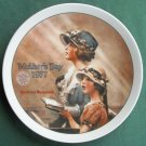Norman Rockwell Vintage Mothers Day 1977 Edwin M Knowles Wall Plate