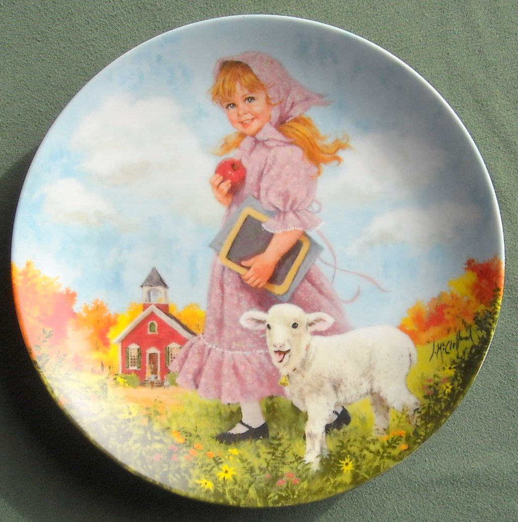 Mother Goose Mary Had A Little Lamb Reco Plate 1985
