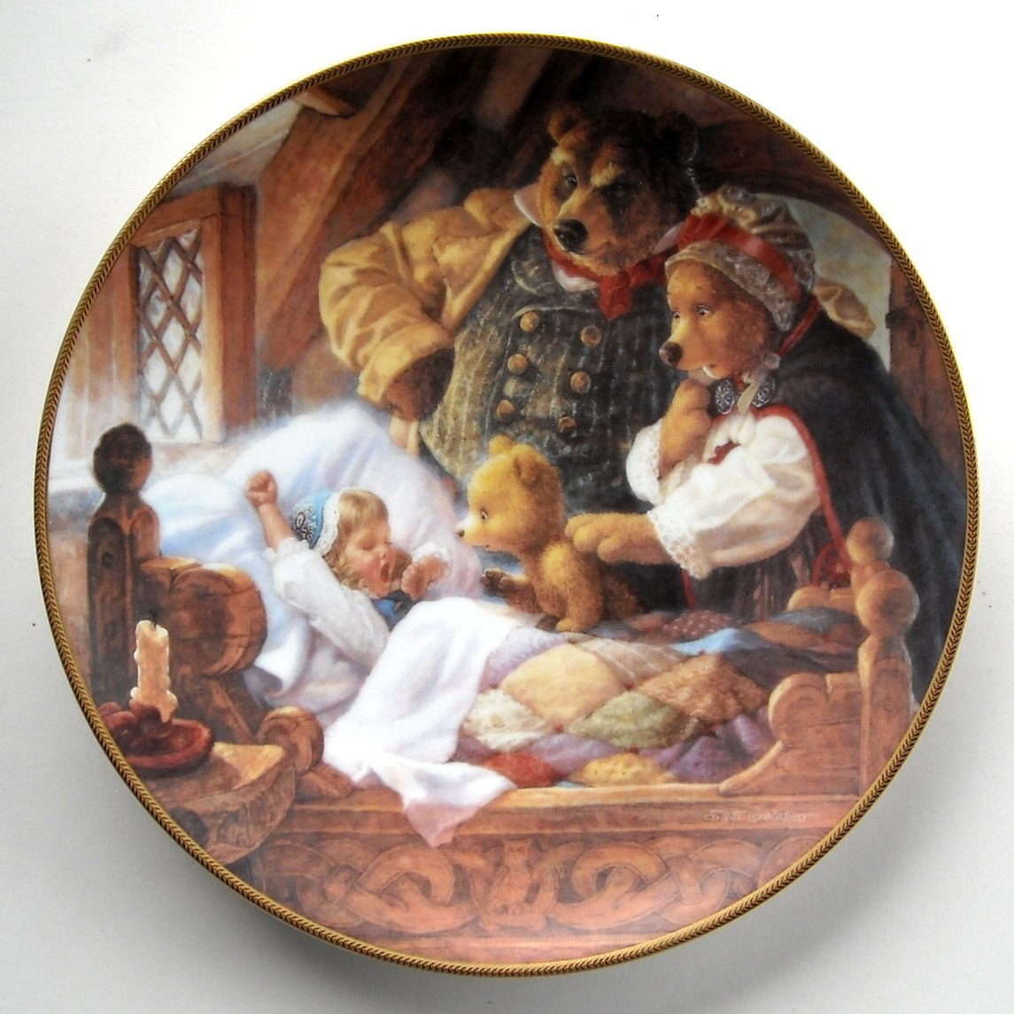 & Goldilocks And The Three Bears Knowles Classic Fairy Tales Plate