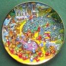 Purrfect Harvest Bill Bell Cat Kitten Franklin Mint Fine Porcelain Plate
