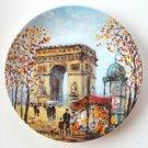 D'Arceau Limoges Louis Dali L 'Arc De Triomphe Porcelain Plate