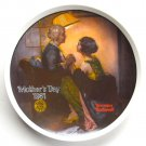 Norman Rockwell Vintage Mothers Day 1981 Edwin M Knowles Wall Plate