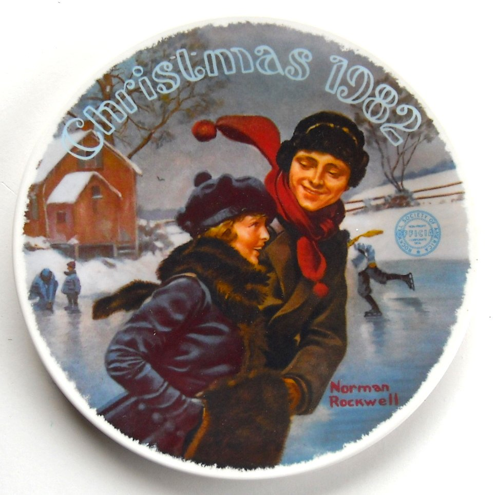 Norman Rockwell Vintage Christmas Courtship 1982 Edwin M Knowles ...