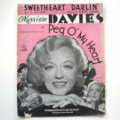 Sweetheart Darlin' Recorded By Marion Davies 1933 Vintage Sheet Music
