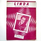 Linda Featured By Buddy Clark Vintage 1946 Sheet Music