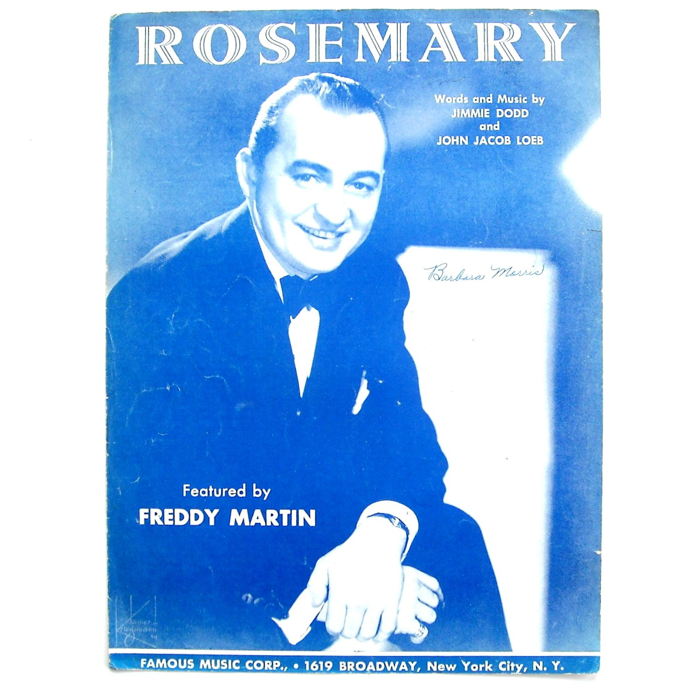 Rosemary By Jimmie Dodd John Jacob Loeb Vintage 1945 Sheet Music