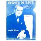 Rosemary By Jimmie Dodd John Jacob Loeb Vintage 1945 Sheet Music
