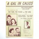 Vintage A Girl In Calico By Arthur Schwartz 1946 Sheet Music