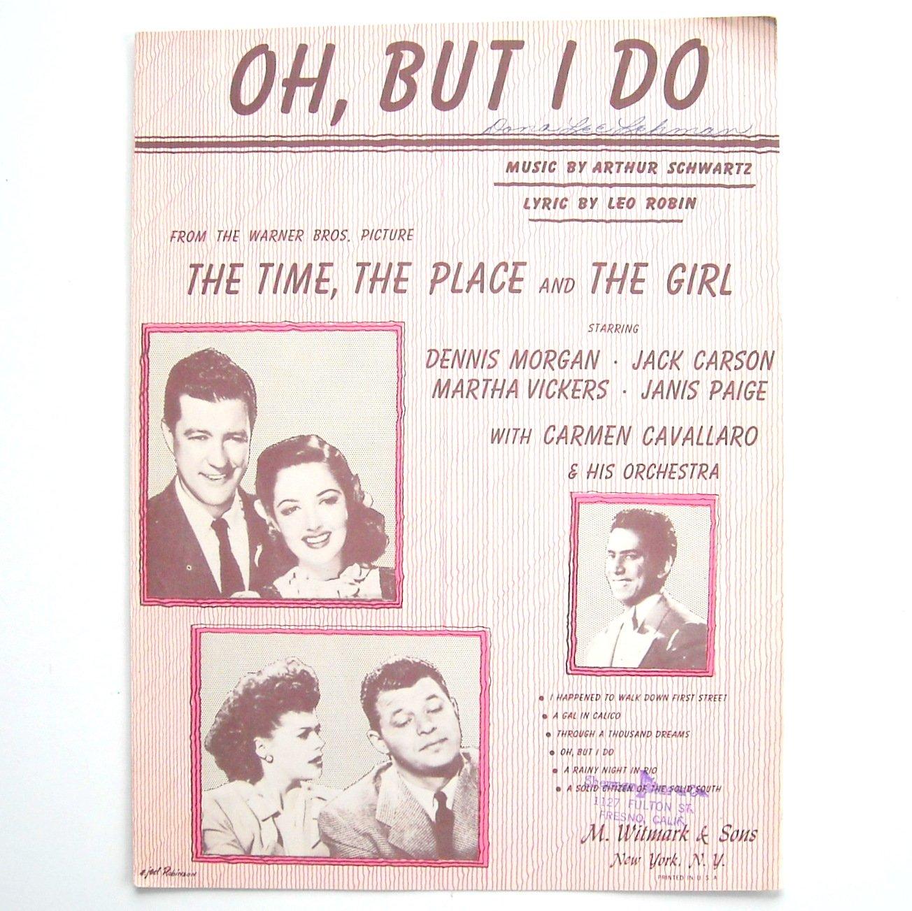 Vintage OH But I Do By Arthur Schwartz 1946 Sheet Music
