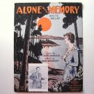 Alone With Memory Waltz Ballad 1931 Vintage Sheet Music