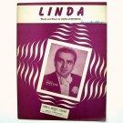 Linda By Jack Lawrence 1946 Sheet Music