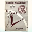 Midnight Masquerade By Bernard Bierman 1946 Sheet Music