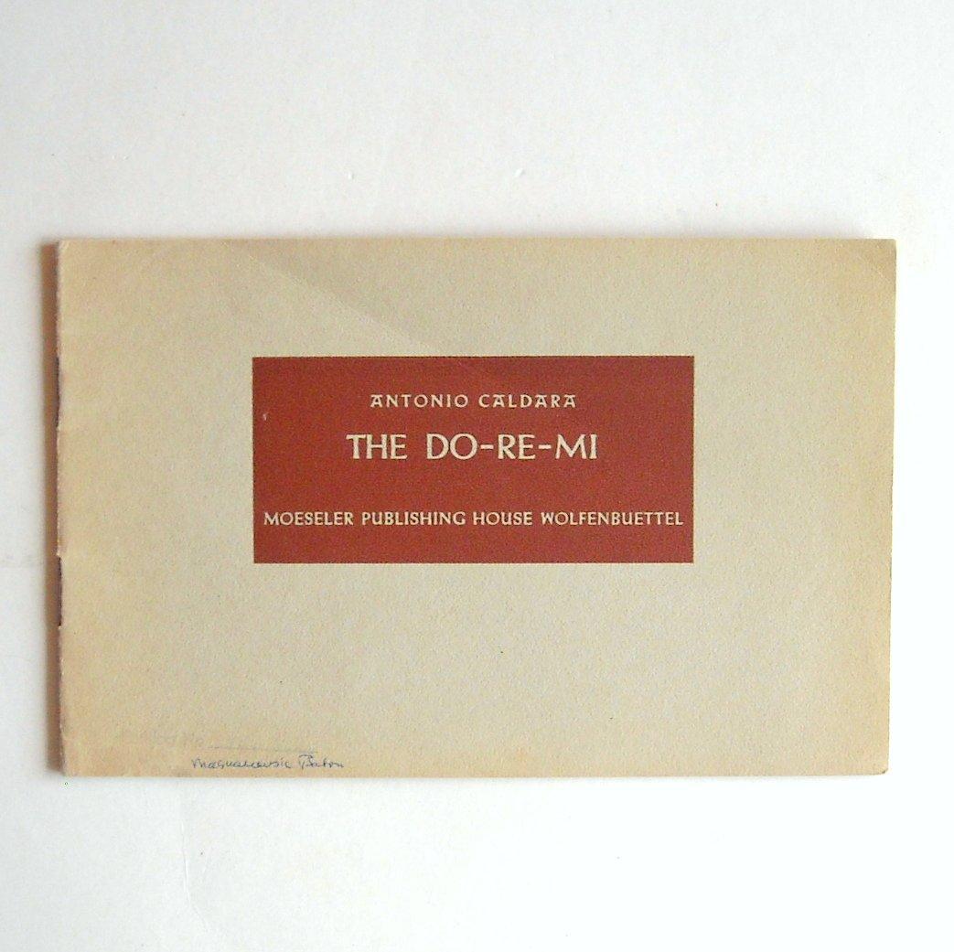 The Do Re Me Antonio Caldara Sheet Music Notebook