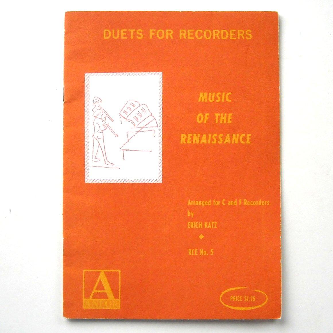 Duets For Recorders Renaissance Sheet Music Notebook