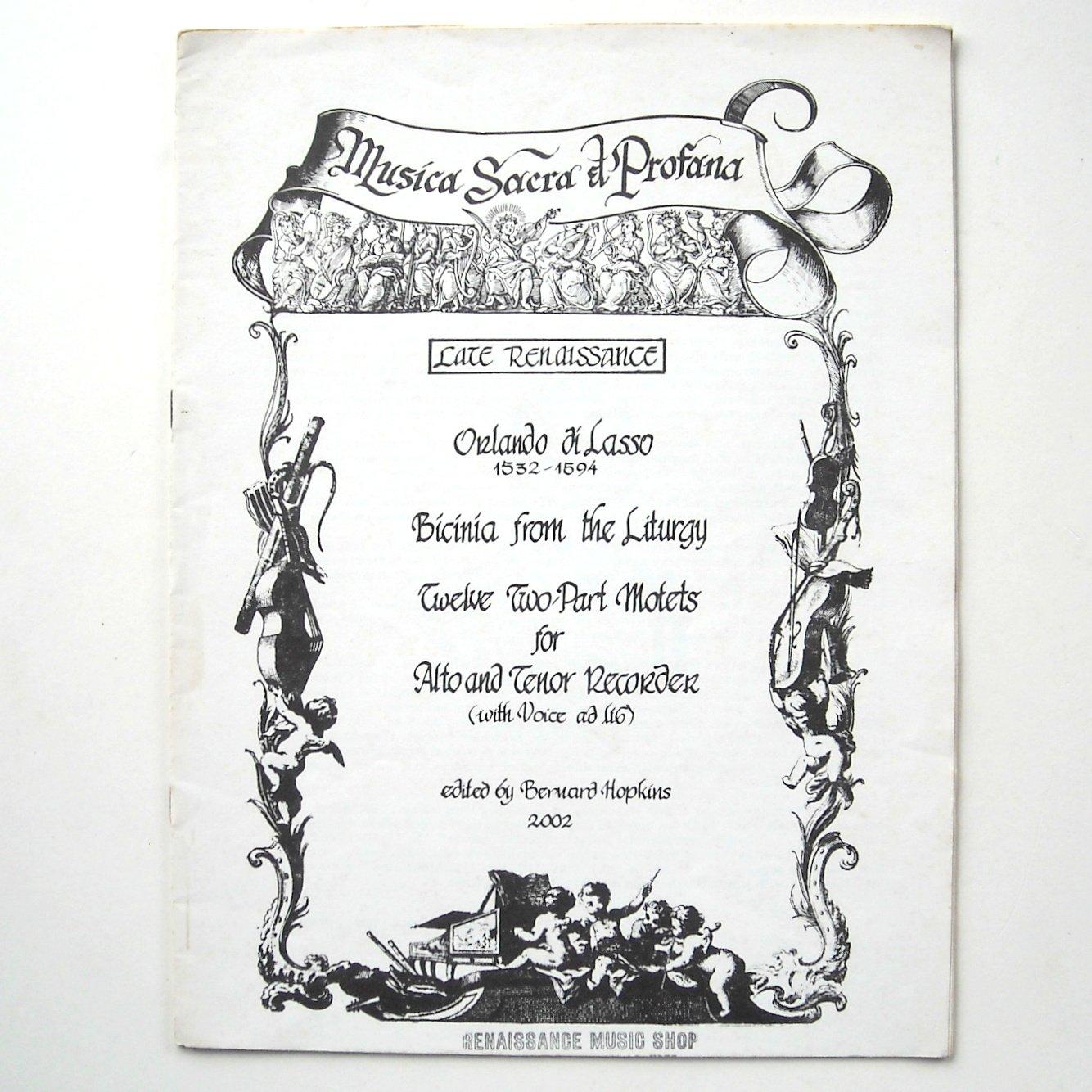 Late Renaissance Musica Sacra et Profana Sheet Music Notebook