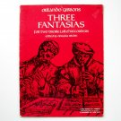 Three Fantasias For Two Recorders Sheet Music Notebook