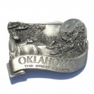 Oklahoma Sooner State Great Escape 3D Vintage Pewter Belt Buckle