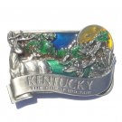 Bluegrass State Kentucky The Great Escape 3D Color Bergamot Pewter Belt Buckle