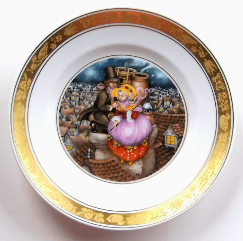 Shepherdess Chimney Sweep Royal Copenhagen H C Andersen Plate