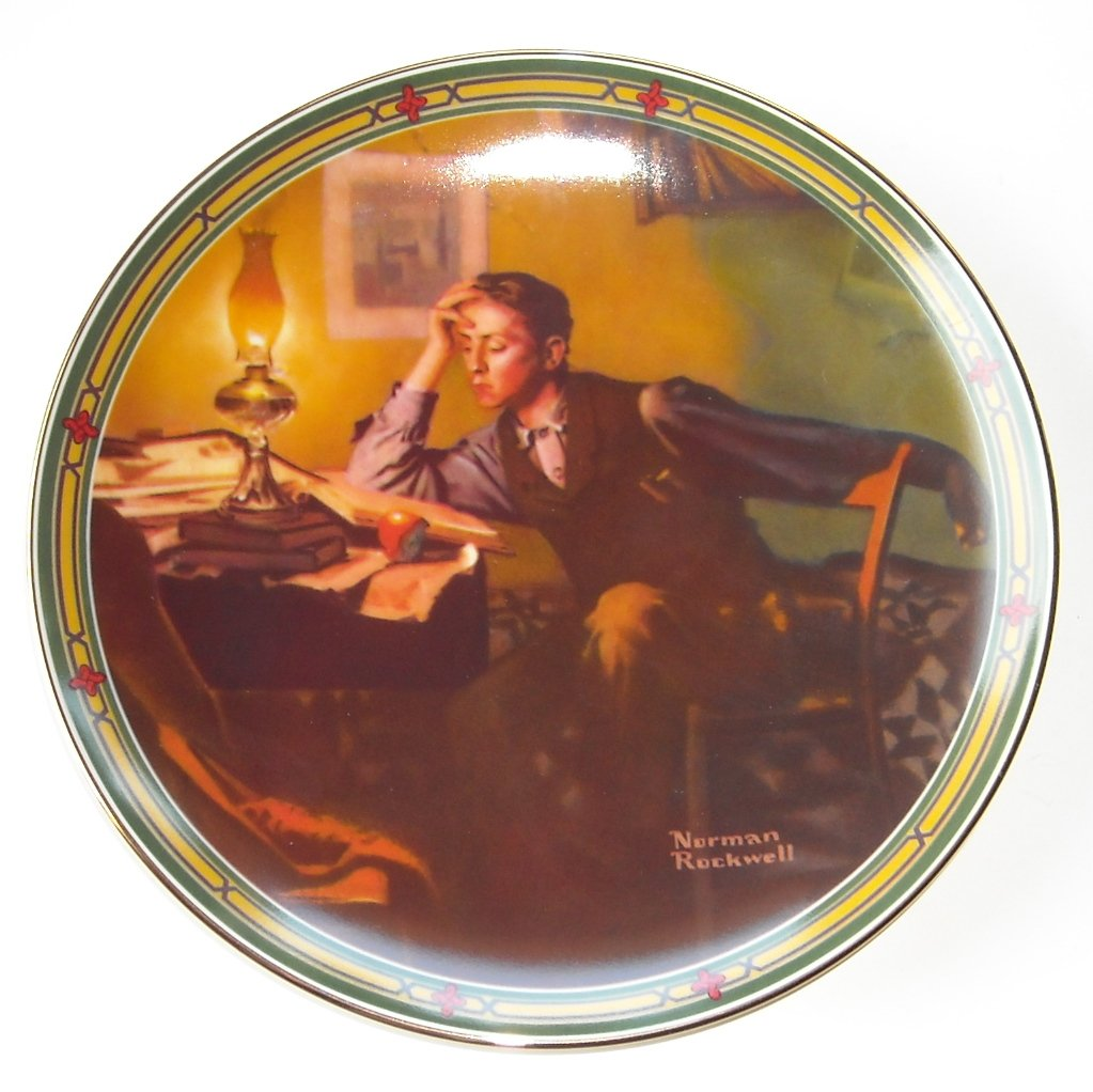 "norman rockwell and the american dream A young mans dream norman rockwell american dream knowles collectors plate vtg - $325 a young mans dream norman rockwell american dream knowles collectors plate vtg this is in ""great"" condition."