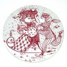 January Kontakt Red Bjorn Wiinblad Denmark Plate