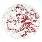 March Victoire Red Bjorn Wiinblad Denmark Plate
