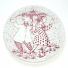 April Konflikt Red Bjorn Wiinblad Denmark Plate