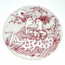 Bjorn Wiinblad Denmark May Harmoni Red Nymolle Plate