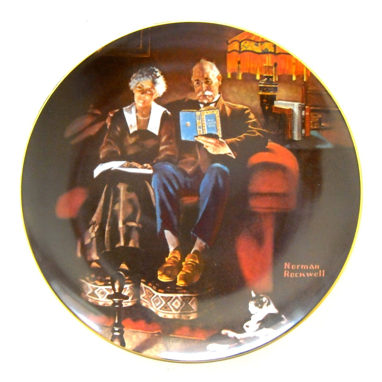 Norman Rockwell Evening\'s Ease Knowles Wall Plate