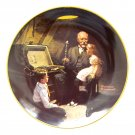 Norman Rockwell Grandpa's Treasure Chest Knowles wall plate