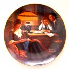 Norman Rockwell Father's Help Knowles wall plate