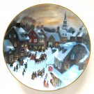 Christmas Eve Scenes Of Christmas Past WS George Porcelain Plate 1988