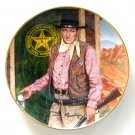 John Wayne Long Arm Of The Law Robert Tanenbaum Franklin Mint fine porcelain plate