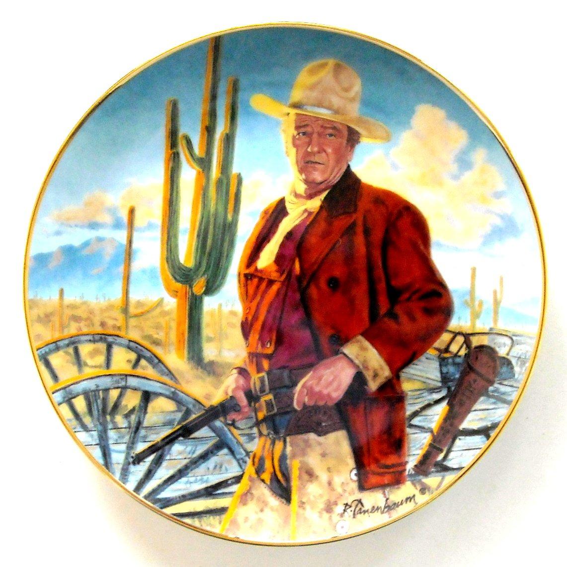 John Wayne Champion Of The West Robert Tanenbaum Franklin Mint fine porcelain plate