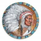 Sitting Bull Native American Legends 3D Bradford Plate 1994