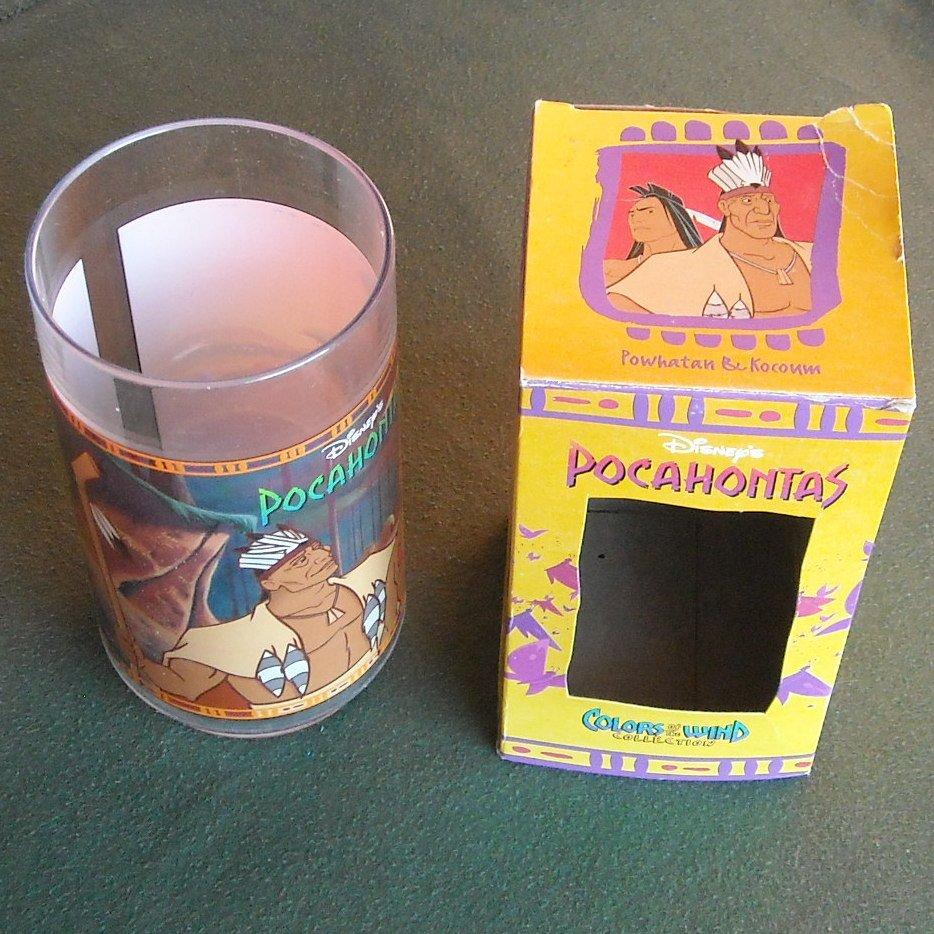 Burger King 1994 DISNEY Pocahontas Colors Of The Wind Cup Powhatan /& Kocoum