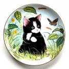 Buttercups Daisies Kitten Appeal Sue Ranford Hamilton Collection Cat Plate 1991