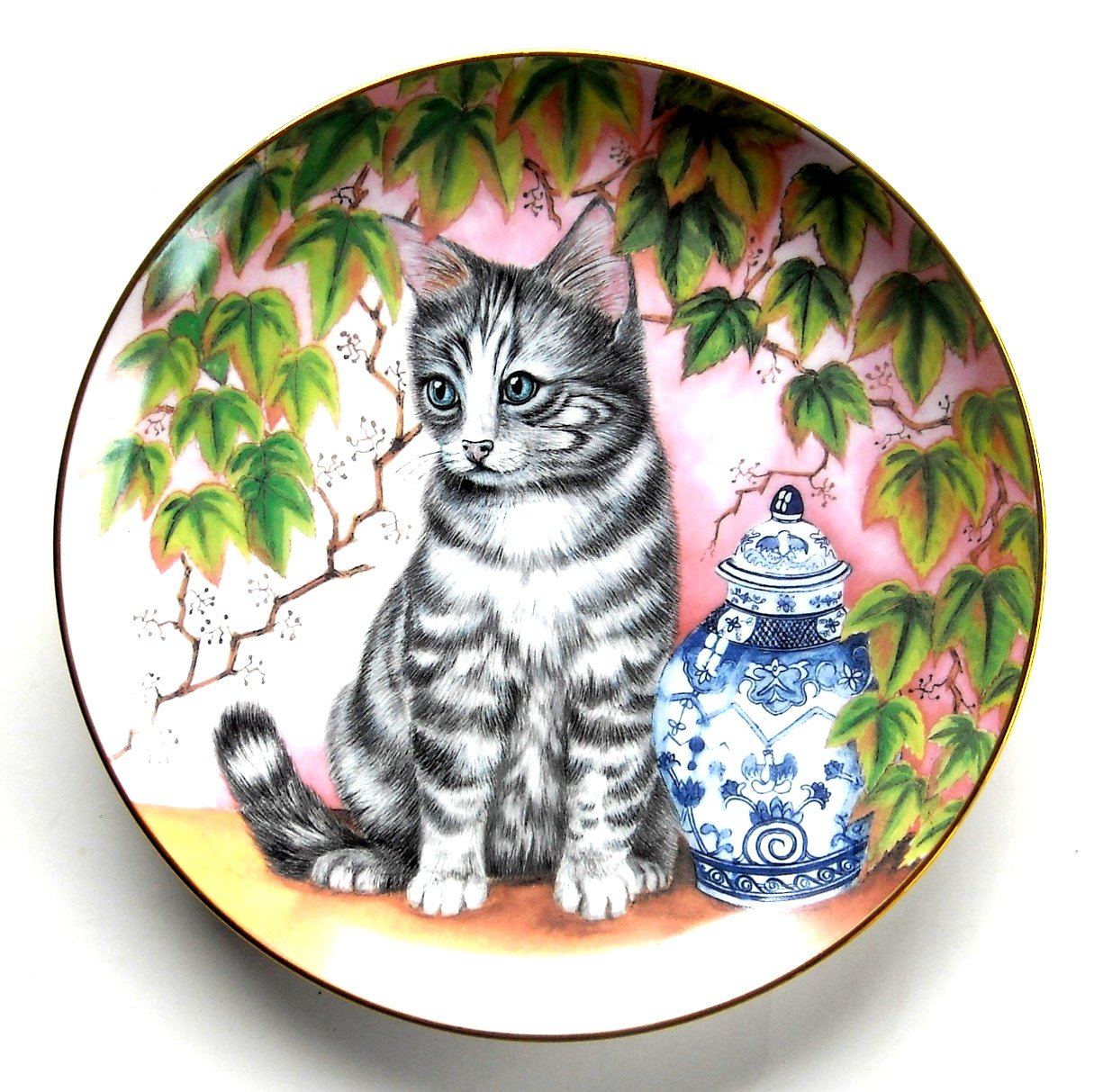 Kitten Appeal On The Shelf Sue Ranford Hamilton Collection Cat Plate 1991