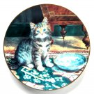 My Bowl Is Empty W S George Victorian Cat Capers Porcelain Plate 1992