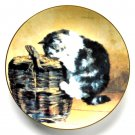 Curious Kitty W S George Victorian Cat Capers Porcelain Plate 1992