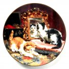 Vanity Fair W S George Victorian Cat Capers Porcelain Plate 1992