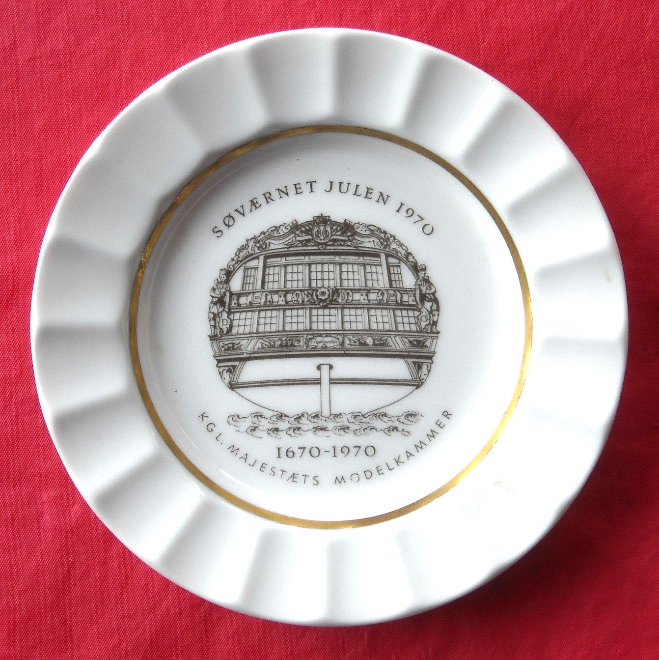 Danish Navy Royal Copenhagen Julen Christmas Plate Dish 1970