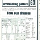 Sun Dresses Dressmaking Phoebus Vintage 1975 Sheet Sewing Pattern 69