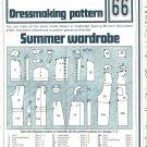 Summer Wardrobe Dressmaking Phoebus Vintage 1975 Sheet Sewing Pattern 66