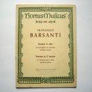 Hortus Musicus Francesco Barsanti Sheet Music Booklet